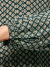 Блузка вискозная с отстрочками на груди oodji #SECTION_NAME# (зеленый), 21411121/47075N/6D12E - вид 5