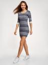 Платье трикотажное с этническим принтом oodji #SECTION_NAME# (серый), 14001064-3/35468/7923J - вид 6