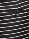 Шорты хлопковые с ремнем oodji для женщины (черный), 11801117-2/33621/2912S