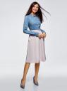Блузка базовая из вискозы oodji #SECTION_NAME# (синий), 11411136B/26346/7412F - вид 6