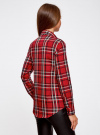 Рубашка в клетку с нагрудными карманами oodji #SECTION_NAME# (красный), 11411052-2/45624/4579C - вид 3