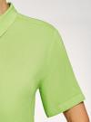 Блузка вискозная с короткими рукавами oodji #SECTION_NAME# (зеленый), 11411137B/14897/6B00N - вид 5