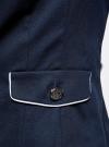Жакет хлопковый с контрастной отделкой oodji #SECTION_NAME# (синий), 11206021-3/33621/7910B - вид 5