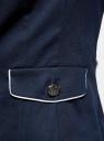 Жакет хлопковый с контрастной отделкой oodji для женщины (синий), 11206021-3/33621/7910B