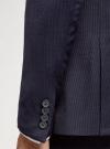 Пиджак однобортный на пуговицах oodji для мужчины (синий), 2L420281M-1/49819N/7975S - вид 5