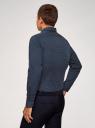 Рубашка хлопковая с контрастной отделкой воротника oodji #SECTION_NAME# (синий), 3B110031M/44425N/7910D - вид 3