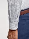 Рубашка из хлопка принтованная oodji #SECTION_NAME# (белый), 3L110311M/47778N/1079O - вид 5