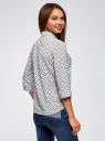 Блузка из струящейся ткани с нагрудными карманами oodji #SECTION_NAME# (белый), 11403225-6B/48853/1229F - вид 3