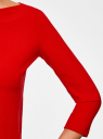 Футболка с рукавом 3/4 oodji для женщины (красный), 24201010B/46147/4500N