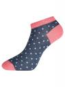Комплект укороченных носков (6 пар) oodji #SECTION_NAME# (разноцветный), 57102433T6/47469/50 - вид 5