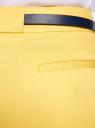 Брюки классические с контрастным ремнем oodji #SECTION_NAME# (желтый), 11705007-1/35319/5100N - вид 4
