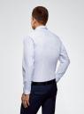 Рубашка принтованная из хлопка oodji #SECTION_NAME# (синий), 3B110027M/19370N/1078G - вид 3
