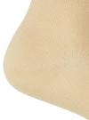 Носки укороченные базовые oodji #SECTION_NAME# (бежевый), 57102418B/47469/3300N - вид 3