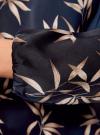 Блузка свободного кроя с вырезом-капелькой oodji #SECTION_NAME# (синий), 21400321-2/33116/7923O - вид 5