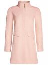 Пальто прямого силуэта из фактурной ткани oodji #SECTION_NAME# (розовый), 10104043/43312/5400N