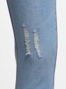 Капри джинсовые с потертостями oodji #SECTION_NAME# (синий), 12105016/45253/7500W - вид 4