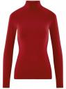 Водолазка базовая из хлопка oodji для женщины (красный), 15E17001/46147/4900N