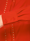 Блузка с металлическими стразами oodji #SECTION_NAME# (красный), 21401247/32823/4500N - вид 5