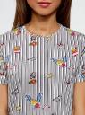 Блузка хлопковая свободного силуэта oodji для женщины (белый), 13K01008/13175N/1219O