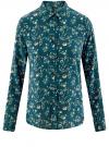 Блузка принтованная из вискозы oodji #SECTION_NAME# (зеленый), 11411087-1/24681/6C41F