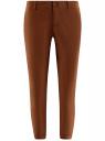 Брюки-чиносы хлопковые oodji для женщины (коричневый), 11706207B/32887/3900N