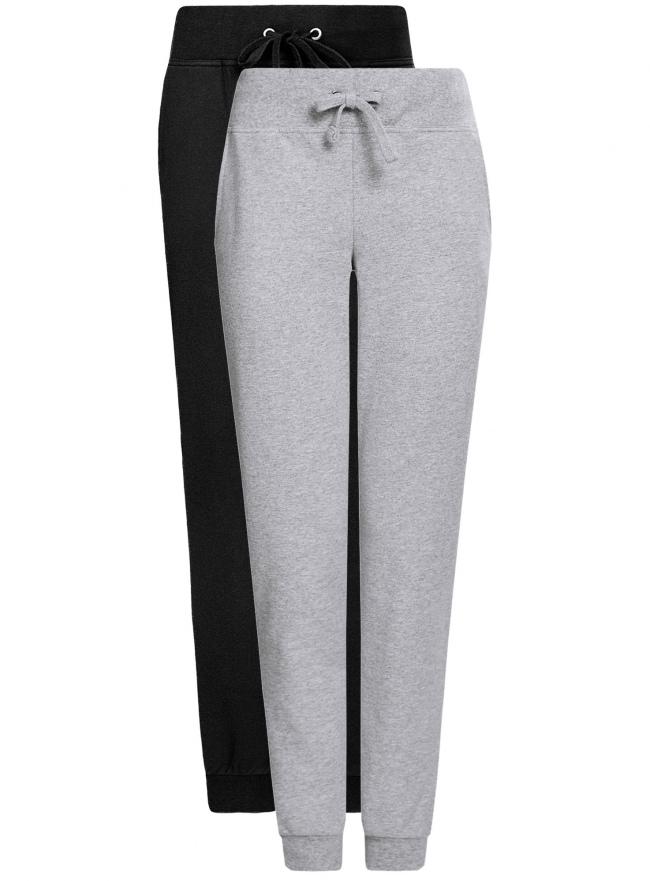 Комплект трикотажных брюк (2 пары) oodji для женщины (черный), 16700030-15T2/46173/2923N
