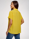Блузка вискозная свободного силуэта oodji для женщины (желтый), 11405139-1/24681/5201N