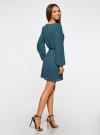 Платье из шифона с ремнем oodji для женщины (зеленый), 11900150-5B/32823/6C00N - вид 3