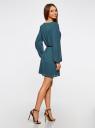 Платье из шифона с ремнем oodji для женщины (зеленый), 11900150-5B/32823/6C00N