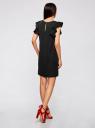 Платье с рукавами-крылышками и украшением на горловине oodji #SECTION_NAME# (черный), 21909002/42720/2900N - вид 3