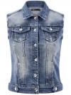 Жилет джинсовый с декоративными карманами oodji #SECTION_NAME# (синий), 12409023/45369/7500W - вид 6