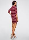 Платье трикотажное в полоску oodji для женщины (красный), 14001162-1/43603/4910S - вид 3