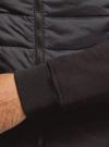 Куртка комбинированная с воротником-стойкой oodji #SECTION_NAME# (черный), 5L911039M/25278N/2900N - вид 5