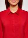 Блузка базовая из вискозы oodji #SECTION_NAME# (красный), 11411136B/26346/4502N - вид 4
