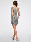 Платье хлопковое со сборками на груди oodji #SECTION_NAME# (серый), 11902047-2B/14885/7912L - вид 3