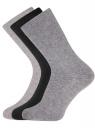 Комплект высоких носков (3 пары) oodji для мужчины (разноцветный), 7B233001T3/47469/1902N