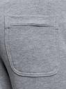 Брюки спортивные на завязках oodji #SECTION_NAME# (серый), 5L230005I/47648N/2010P - вид 5