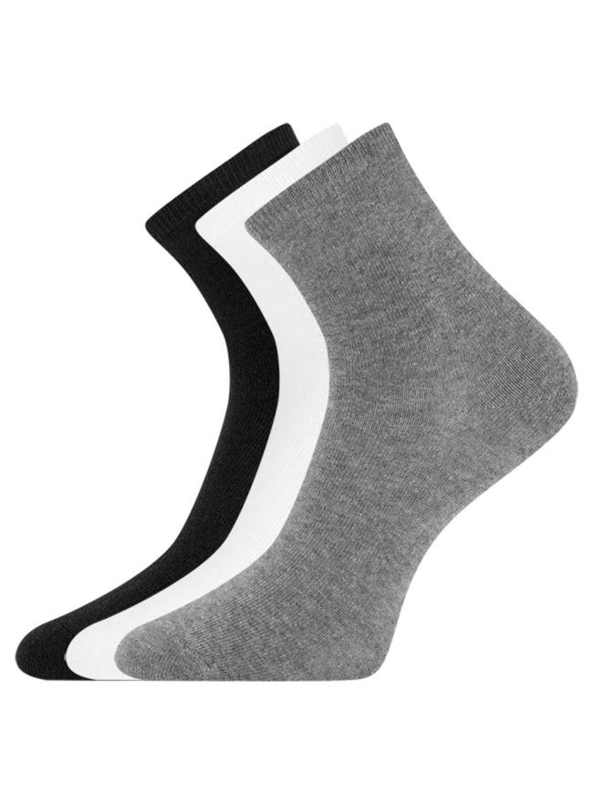 Комплект из трех пар носков oodji для женщины (разноцветный), 57102466T3/47469/39