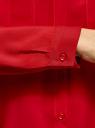 Блузка базовая из вискозы с нагрудными карманами oodji #SECTION_NAME# (красный), 11411127B/26346/4500N - вид 5