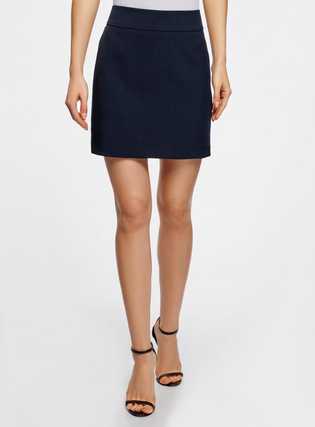 Юбка короткая базовая oodji для женщины (синий), 11600399-1B/14917/7901N