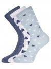 Комплект высоких носков (3 пары) oodji #SECTION_NAME# (разноцветный), 57102902T3/47469/43 - вид 2