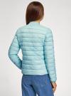 Куртка-бомбер на молнии oodji #SECTION_NAME# (бирюзовый), 10203061-1B/33445/7300N - вид 3