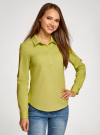 Рубашка базовая с нагрудными карманами oodji #SECTION_NAME# (зеленый), 11403222B/42468/6A01N - вид 2