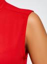 Топ свободного силуэта с завязками oodji #SECTION_NAME# (красный), 24911002/36215/4500N - вид 5