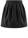 Юбка расклешенная с мягкими складками oodji #SECTION_NAME# (черный), 11600388-2/46140/2912D