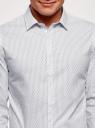Рубашка из хлопка принтованная oodji #SECTION_NAME# (белый), 3L110311M/47778N/1079O - вид 4