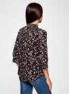 Блузка вискозная с регулировкой длины рукава oodji #SECTION_NAME# (черный), 11403225-2B/26346/2923F - вид 3