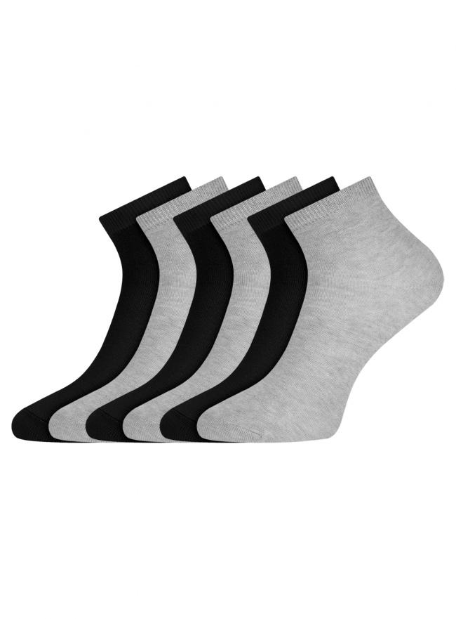 Комплект укороченных носков (6 пар) oodji для женщины (разноцветный), 57102418T6/47469/75
