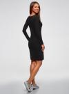 Платье трикотажное облегающего силуэта oodji #SECTION_NAME# (черный), 14001183B/46148/2900N - вид 3