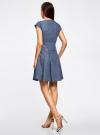 Платье джинсовое на молнии oodji #SECTION_NAME# (синий), 12909050/46684/7000W - вид 3